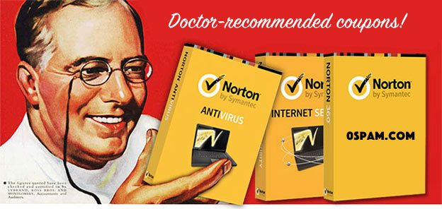 0spam norton software coupons